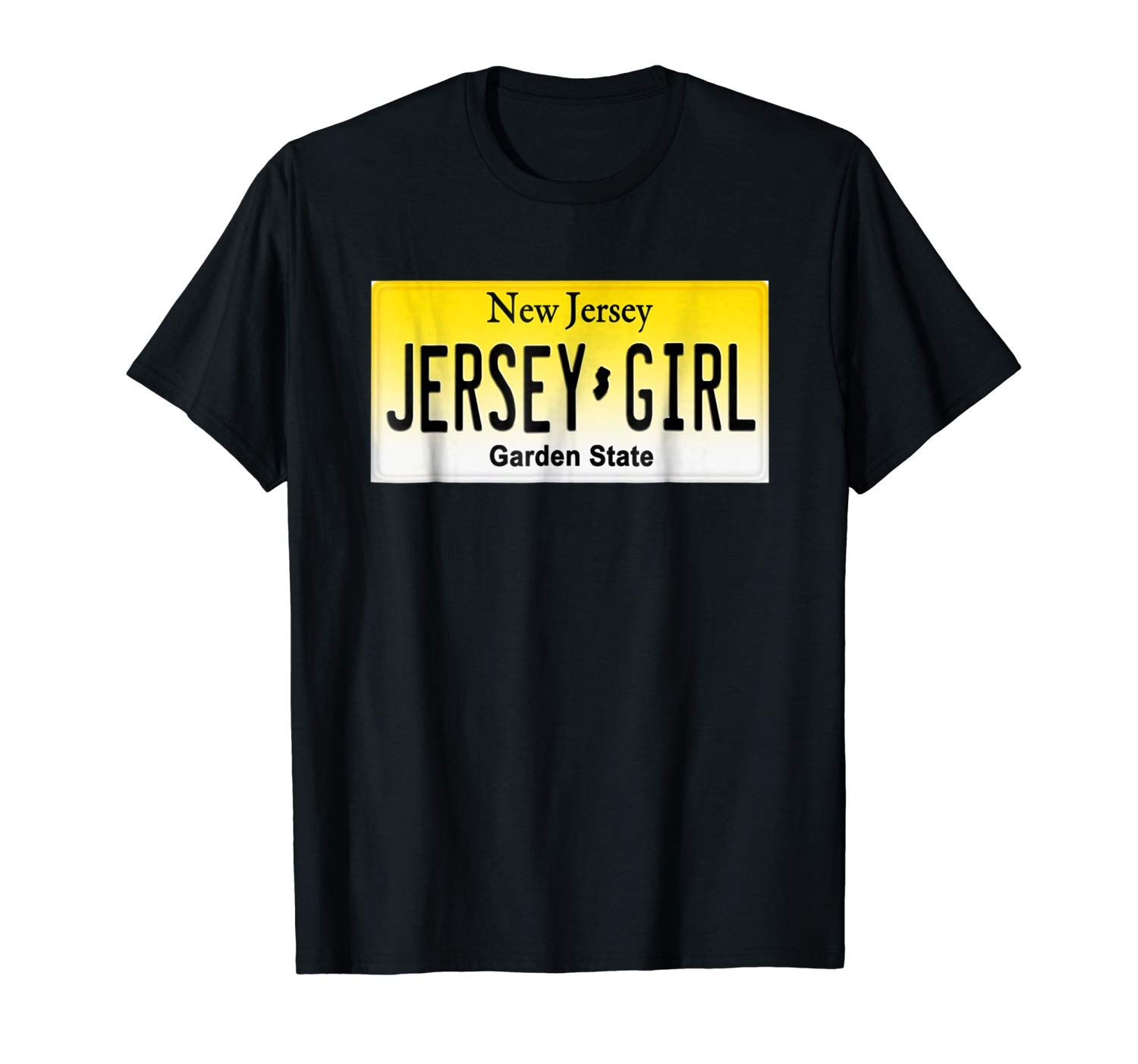 Jersey Girl License Plate T Shirt For That Spirited Woman Inside