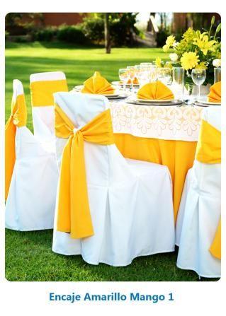 montajes - encaje amarillo mango 1   combinacion de manteleria para