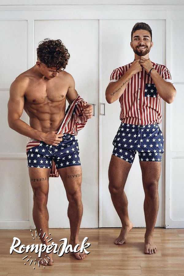 212f1fb41465 Stylish mens rompers with unique designs and perfect tapered fit ...