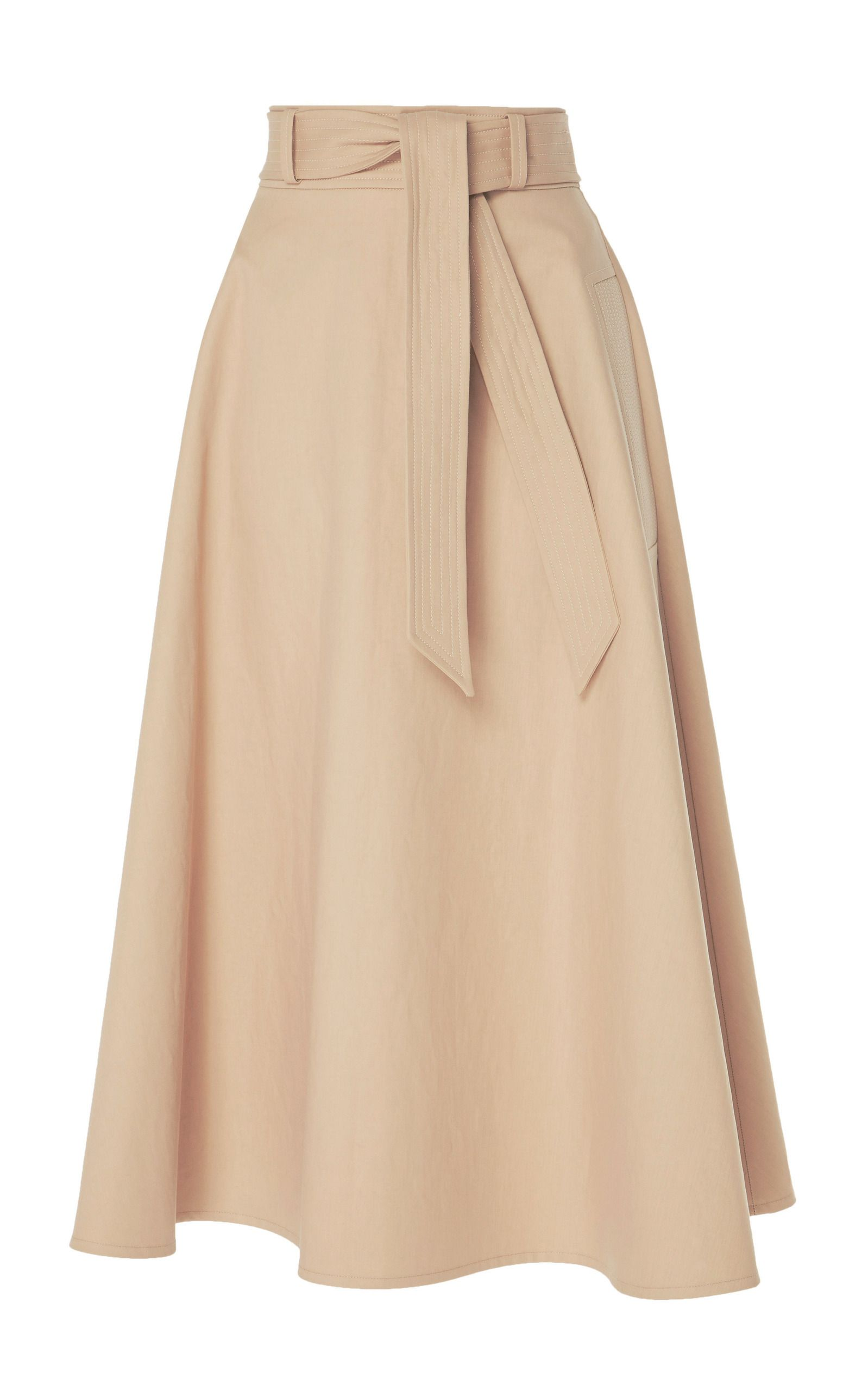 774a7aad50 Belted A-Line Midi Skirt by MARTIN GRANT Now Available on Moda Operandi