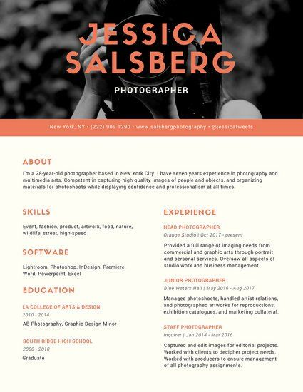 Greyscale Photo Infographic Resume Resume Pinterest - examples of successful resumes