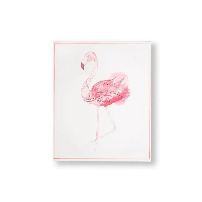 Pin By Nadine Schultze On Basteln Und Schenken In 2020 Flamingo Graphic Canvas Wall Art Animal Canvas