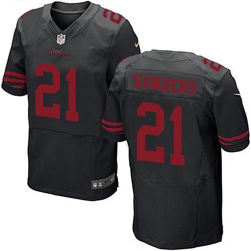 $24.99 Nike Elite Deion Sanders Black Men's Jersey - San Francisco 49ers #21 NFL Alternate