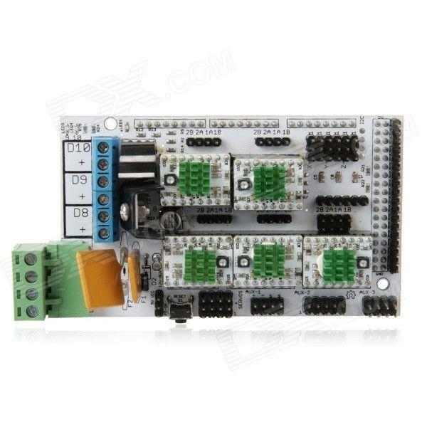 Elecfreaks RAMPS Kit (RAMPS Mega Shield V1.4 Boards + Stepper Driver board A4988) for 3D Printer. Description R