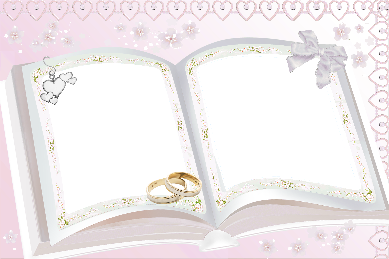 Transparent Pink Wedding Frame Wedding Frames Frame
