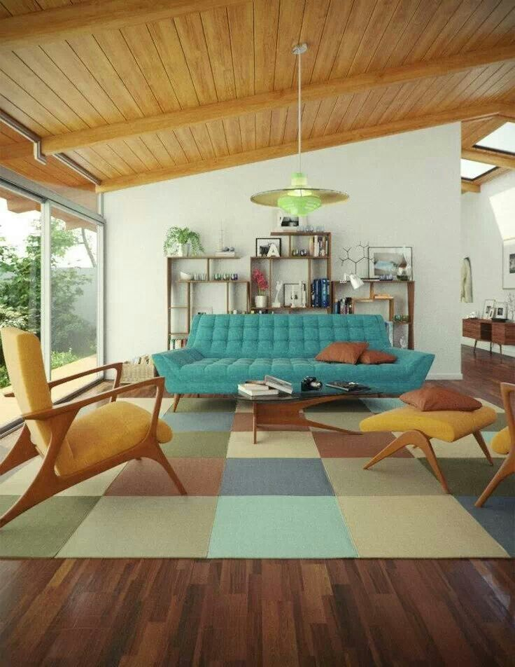 145 Fabulous Designer Living Rooms Mid century and Mid century