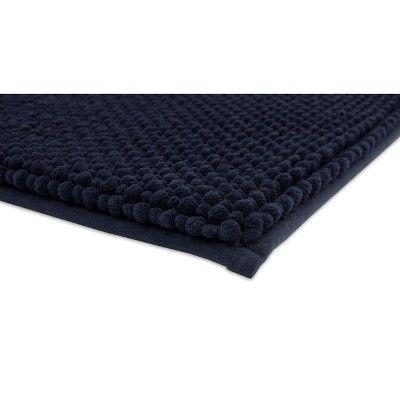 24 X40 Low Chenille Memory Foam Bath Rugs Mats Xavier Navy