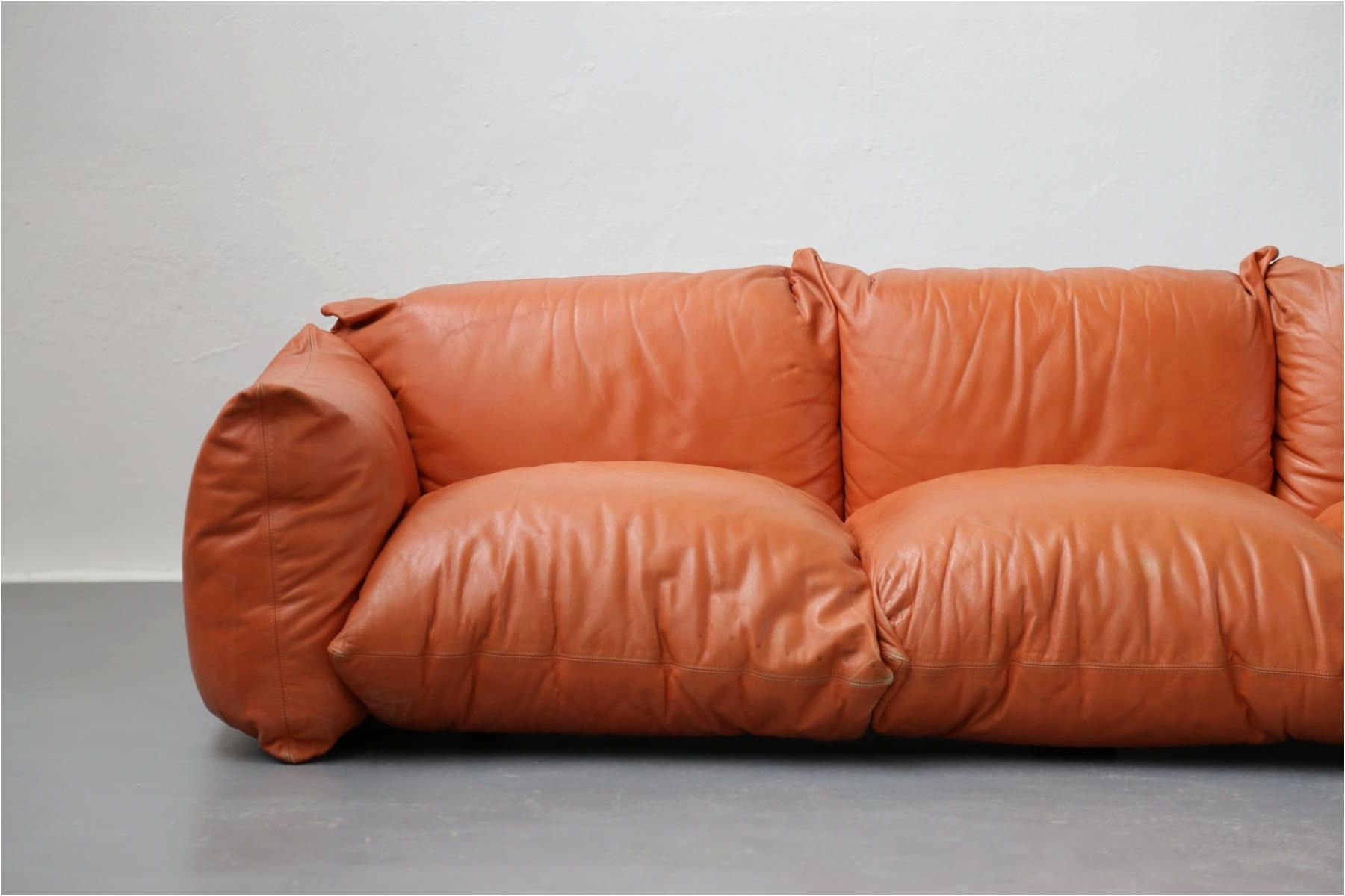 Tan Leather sofa Luxury Vintage Italian Leather sofa by ...