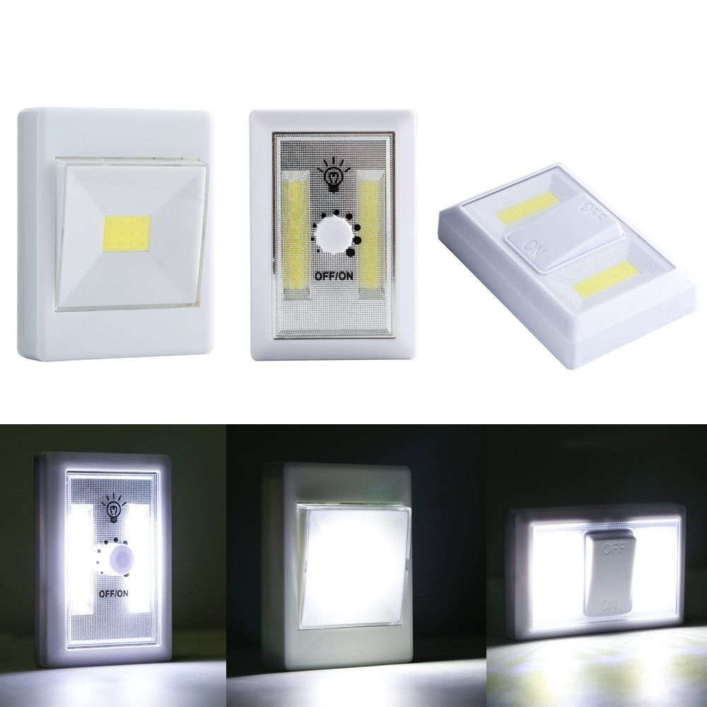 x w cob led wall switch wireless closet cordless night