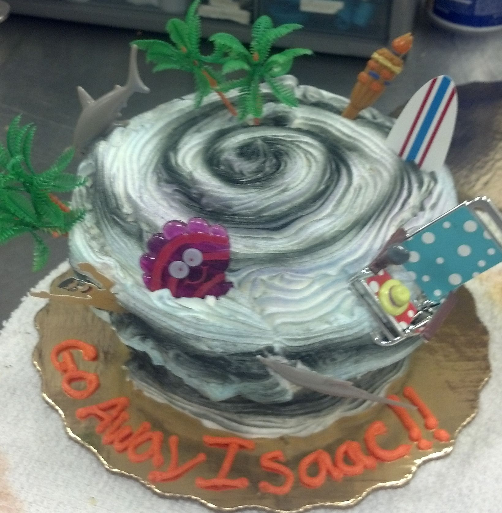 My most recent Hurricane Cake. It seemed to work here in NW Florida. #hurricanefoodideas