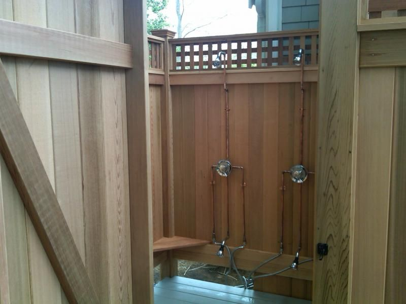 Outdoor Shower Control Plumbing Kit (with Foot Rinse) | Outdoor ...