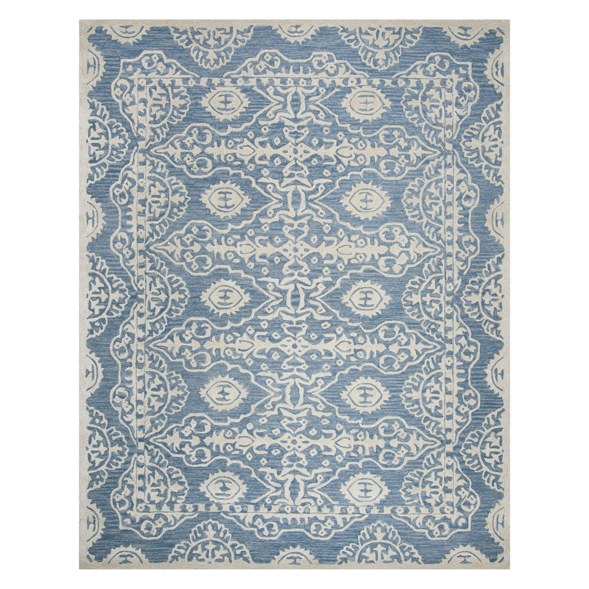 8 X10 Medallion Area Rug Blue Ivory Safavieh Products In 2019
