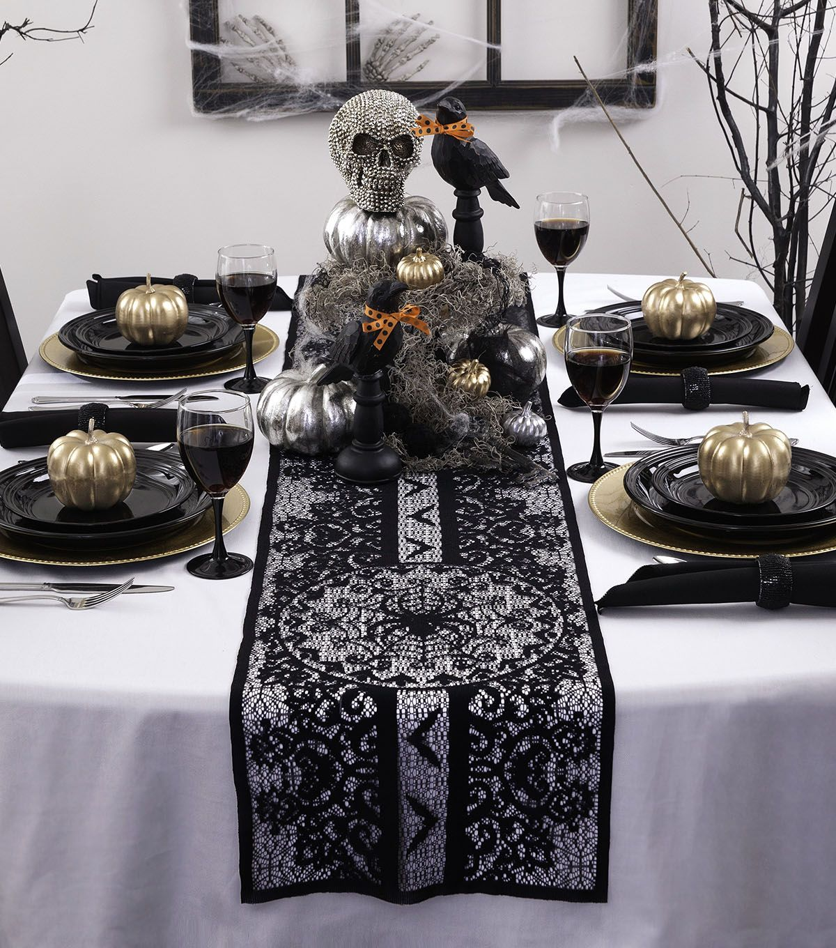 Maker\u0027s Halloween 72\u0027\u0027x14\u0027\u0027 Table Runner-Spider Halloween with