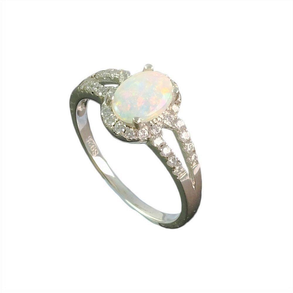 Abundant Love Sterling Silver Australian White Opal Ring White Opal Ring Opal Ring Gold Engagement Rings Opal