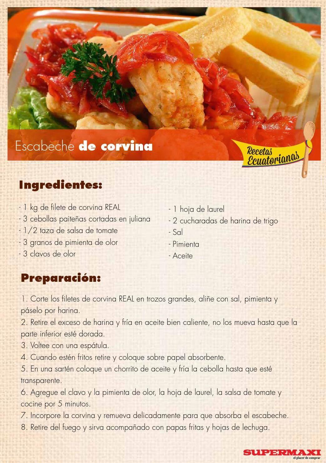 Recetas ecuatorianas recetas ecuatorianas recetas y for Ingredientes para comida