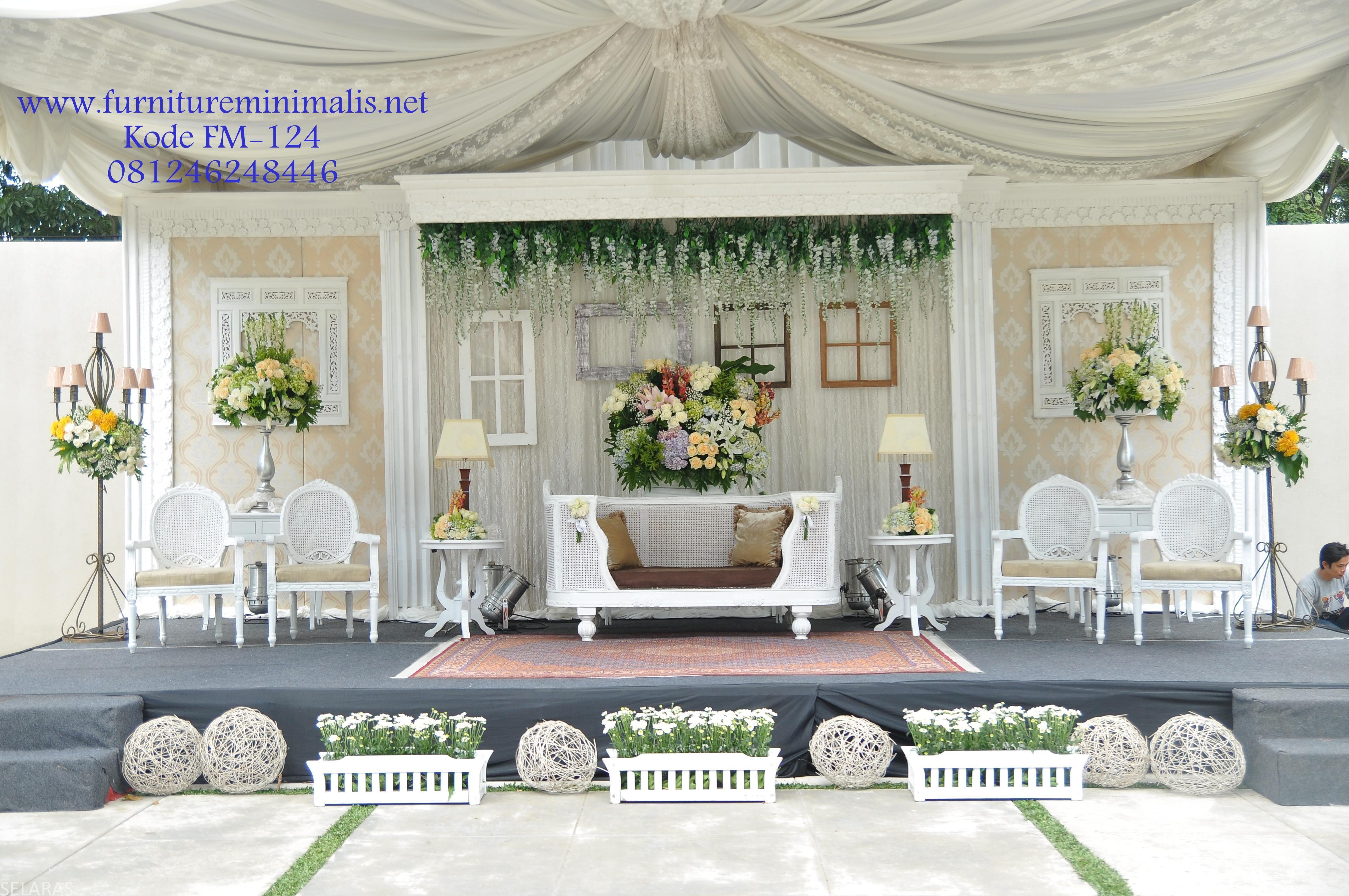 Dekorasi Pelaminan Minimalis Sederhana Duco Outdoor Wedding Decor