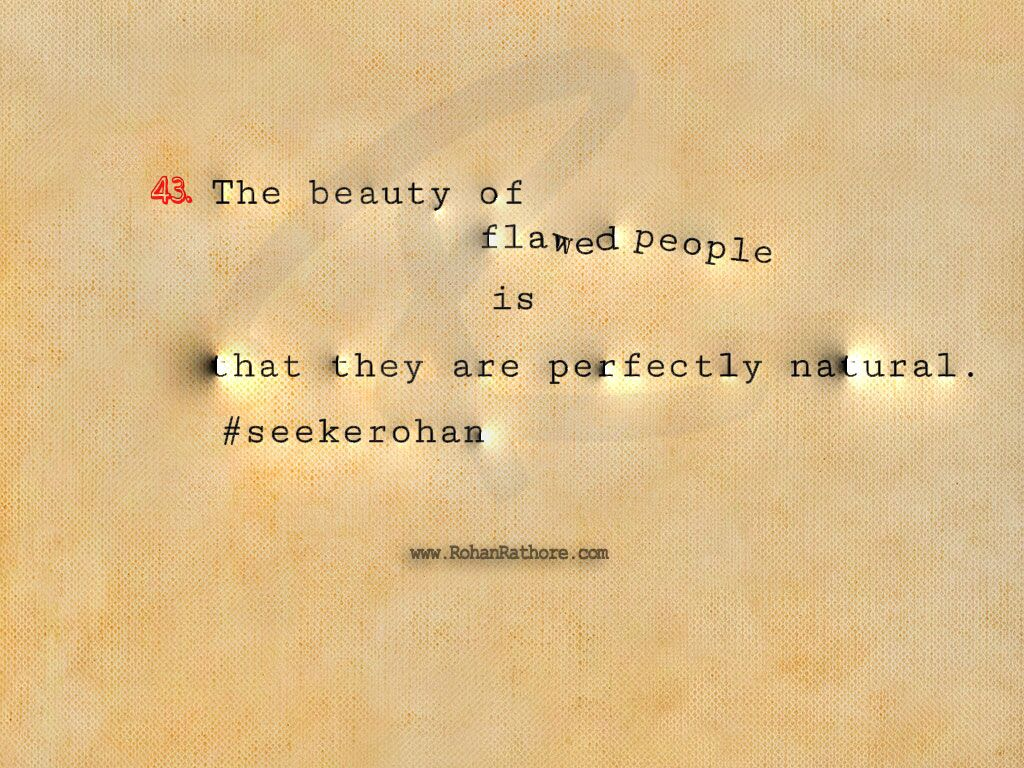Beauty And Flaw  Quote.