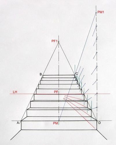 escalier2 jpg drawing pinterest dessin perspective. Black Bedroom Furniture Sets. Home Design Ideas