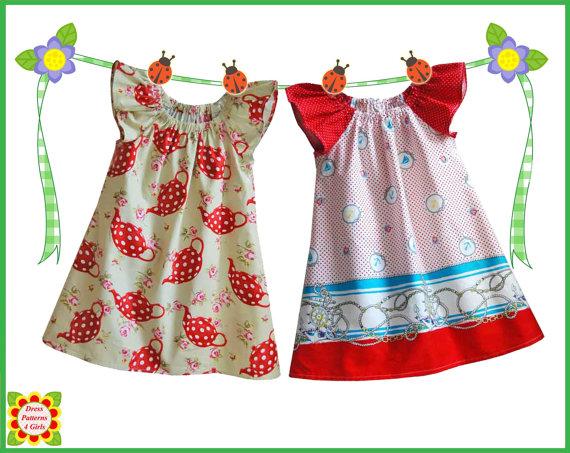 Cecilia Peasant Dress Pattern For Girls Free MotherDaughter Apron Enchanting Toddler Dress Patterns