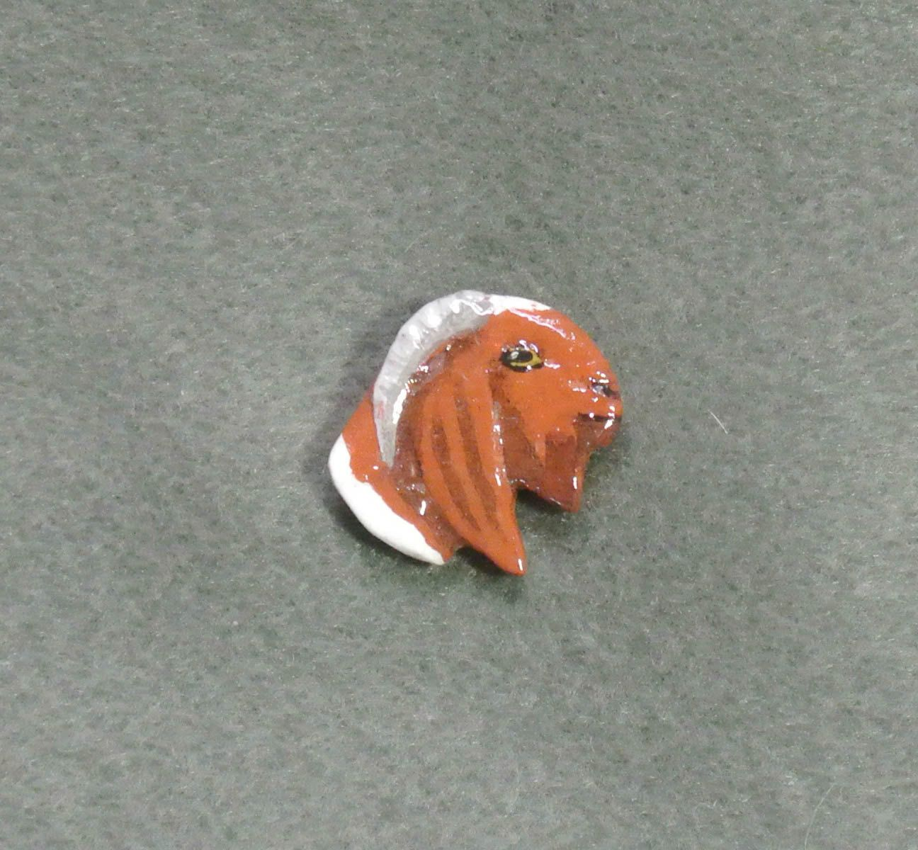 Boer Bone Pin-Hand Painted, Sculpted by TandPCrafts on Etsy
