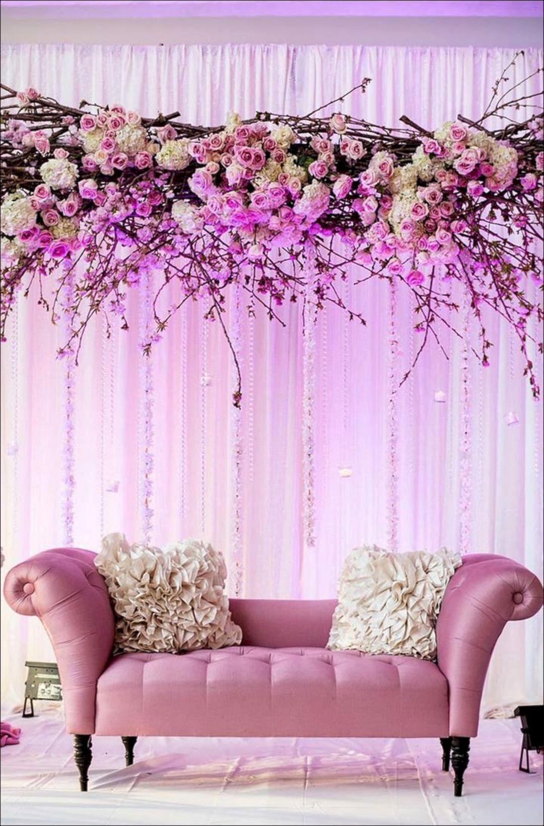 40+ Inspiration Backdrop Beautiful Wedding Decorations