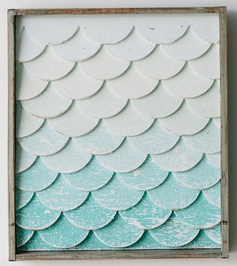 Mermaid Tail Wall Art Small Beach Decor Coastal Decor Nautical