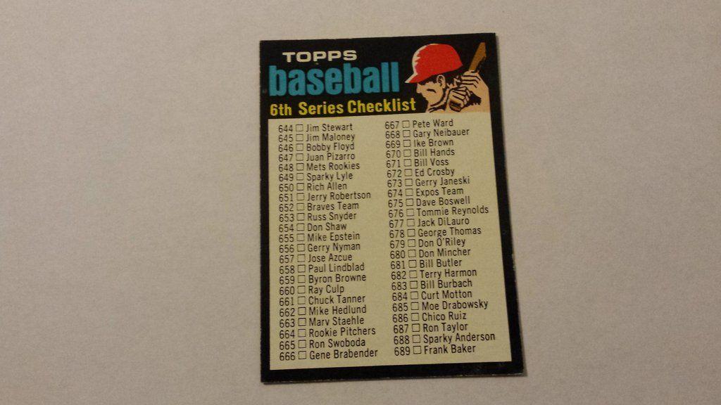 1971 topps single baseball check list card checklist