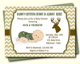 Hunting baby shower invitation daddys hunting buddy baby boy hunting baby shower invitation daddys hunting buddy baby boy shower invite deere green chevron filmwisefo Images