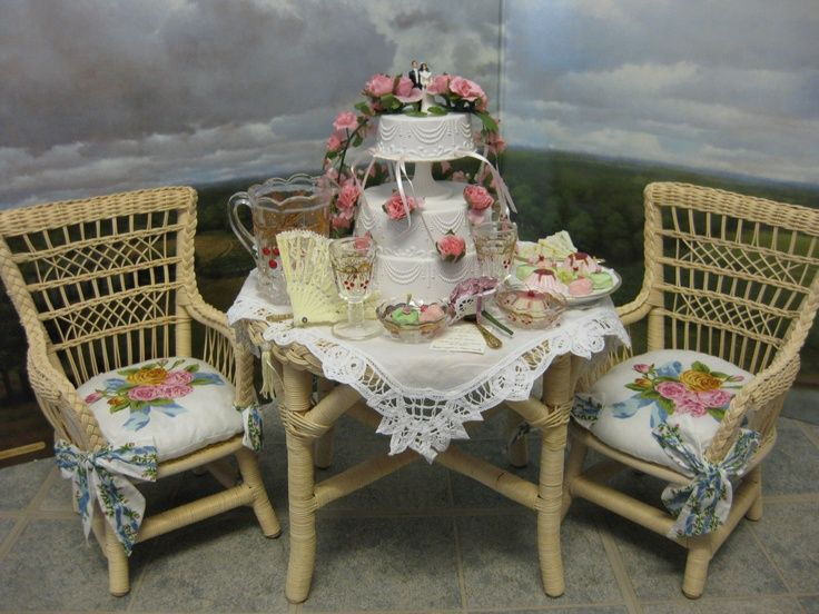 Wicker Table and Chairs   American Girl Playthings