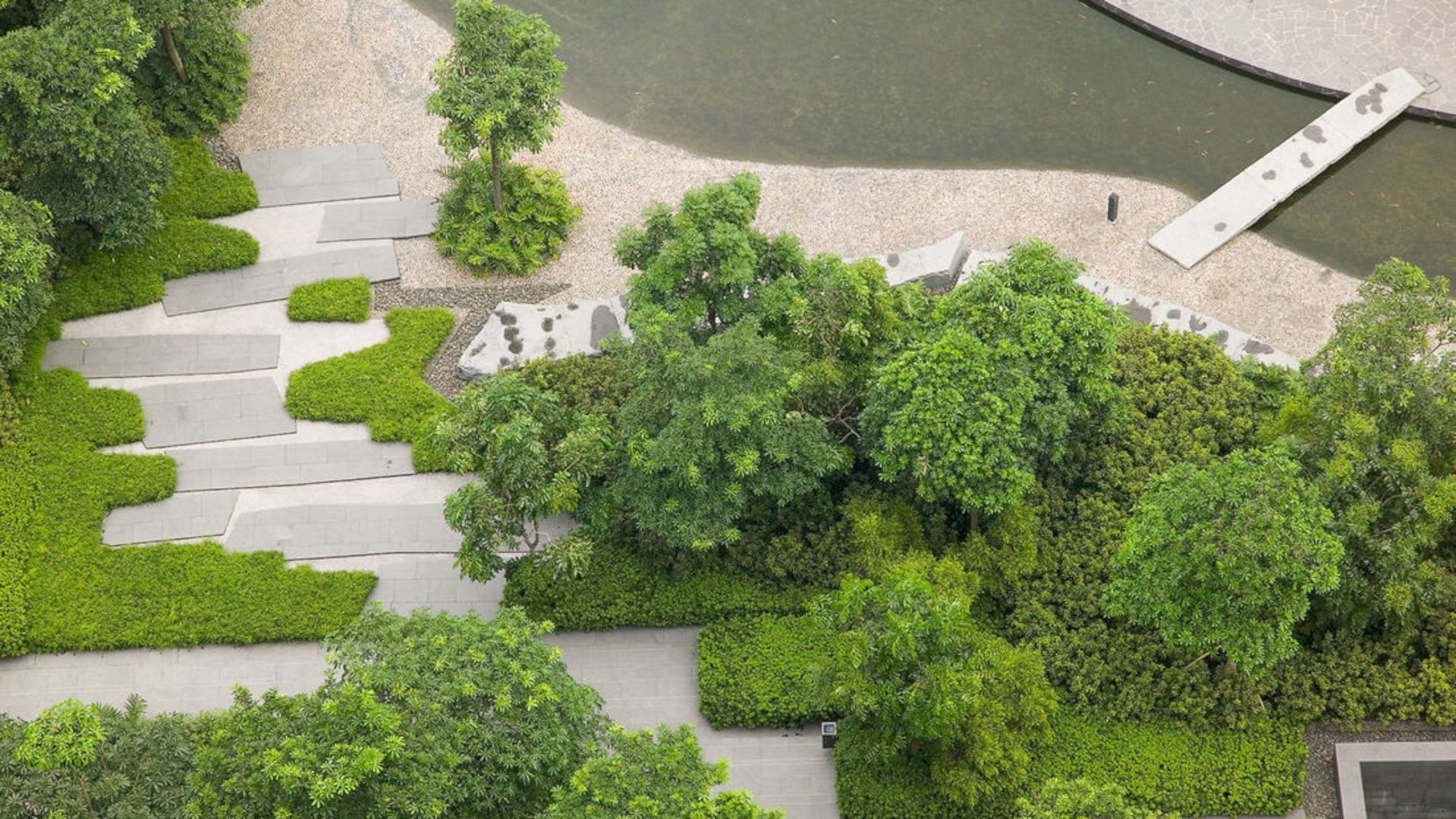 Poly International Plaza The Integration Of Contemporary Site With A Series Of Gardens Modern Landscaping Landscape Design Outdoor Landscaping
