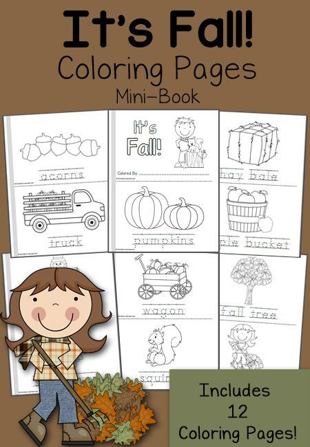 free fall mini books and 12 coloring pages