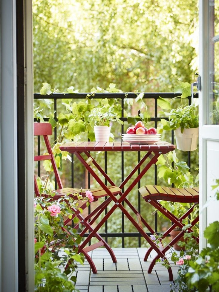 ikea red cafe chairs malaro gardenista - Red Cafe Ideas