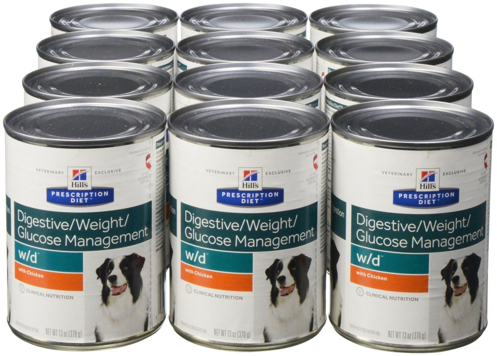 Hill S Prescription Diet W D Canine Digestive Weight Glucose Management Chicken 12x13oz Canine Digestive Hills Prescription Diet Digestion Prescription