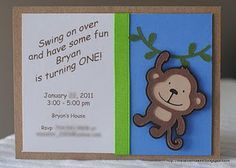 Cricut monkey birthday invitations birthday bash jungl monkey cricut monkey birthday invitations birthday bash jungl monkey monkey first birthday birthday invitations filmwisefo Image collections