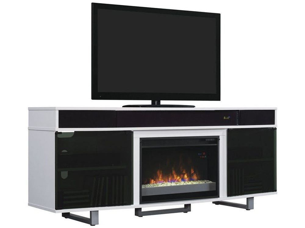 72 Inch White Enterprise Fireplace Tv Stand Fireplace Tv Stand