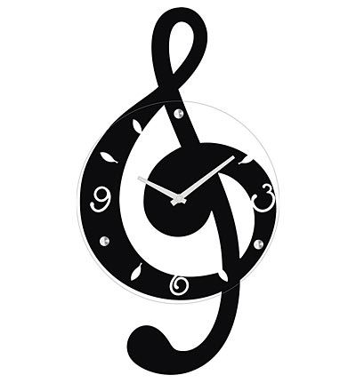 Musical Clef Wall Clock by Ashton Sutton