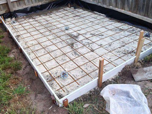 Steel Mesh Diy Concrete Slab Concrete Diy Concrete Slab