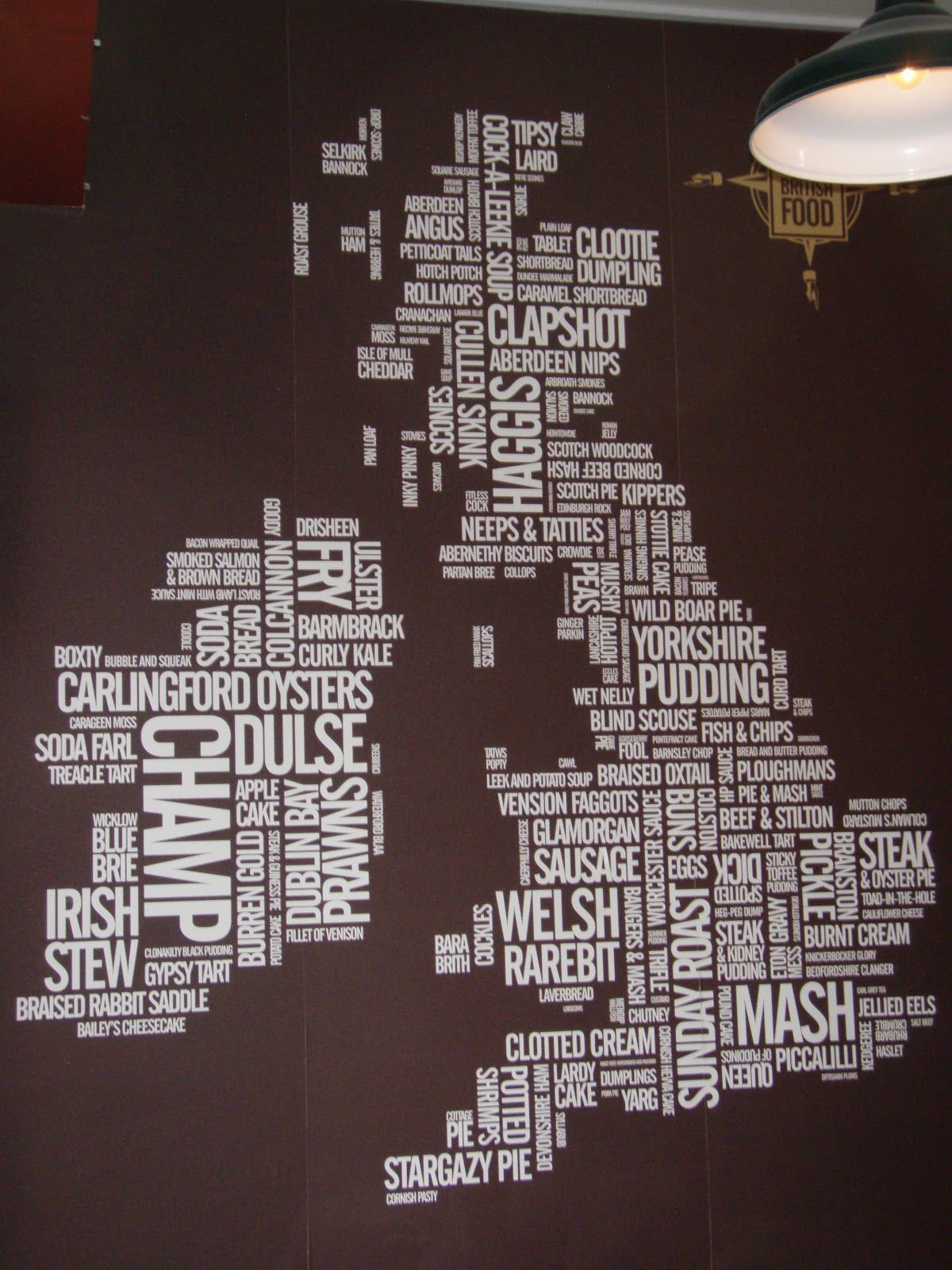 Typographic Map of Food of the British