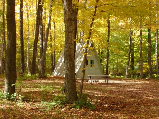Cabins And A Frames Egg Harbor Campground Rv Resort Door County Wisconsin Campgrounds Cabin