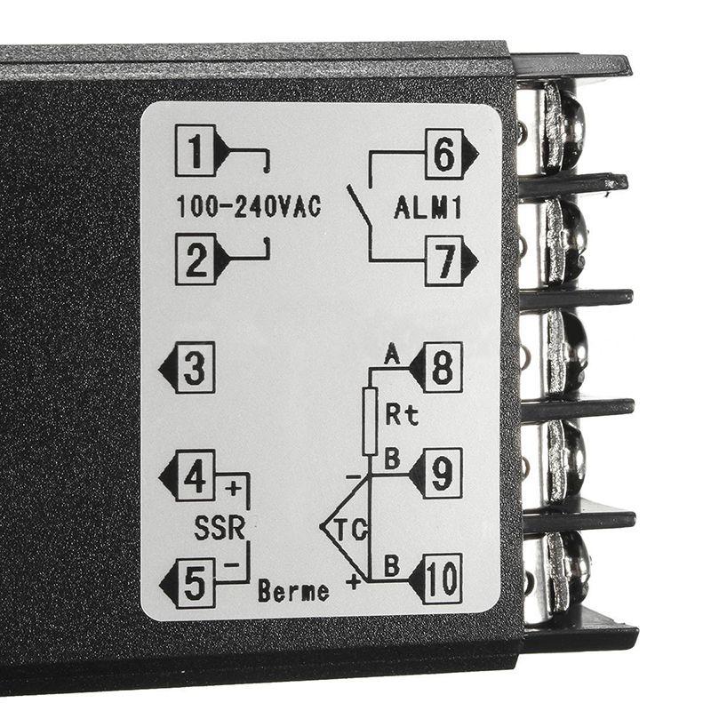 Digital 110-240V 220V AC PID REX-C100 Temperature Controller With Max.40A  SSR K Thermocouple Sensor   Alexnld.co… in 2020   Temperature control, 3  way switch wiring, SensorPinterest