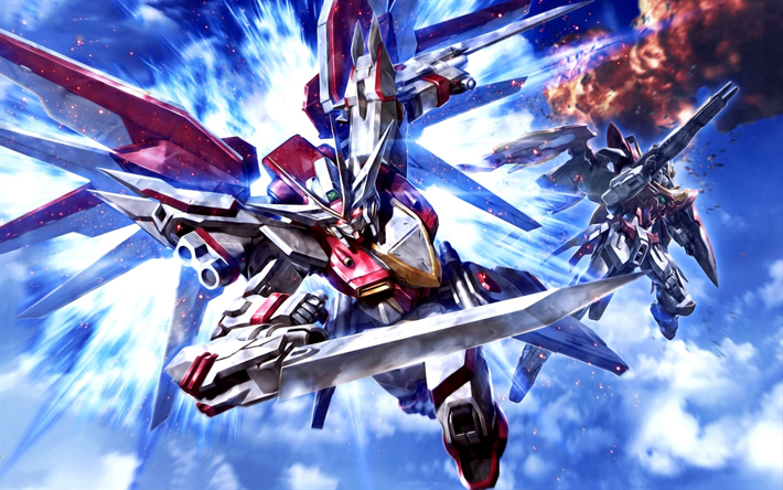 14 Robot Anime Mobile Wallpaper Download For Free On All Your Devices Computer Smartphon Gundam Wallpapers Gundam Build Fighters Anime Backgrounds Wallpapers