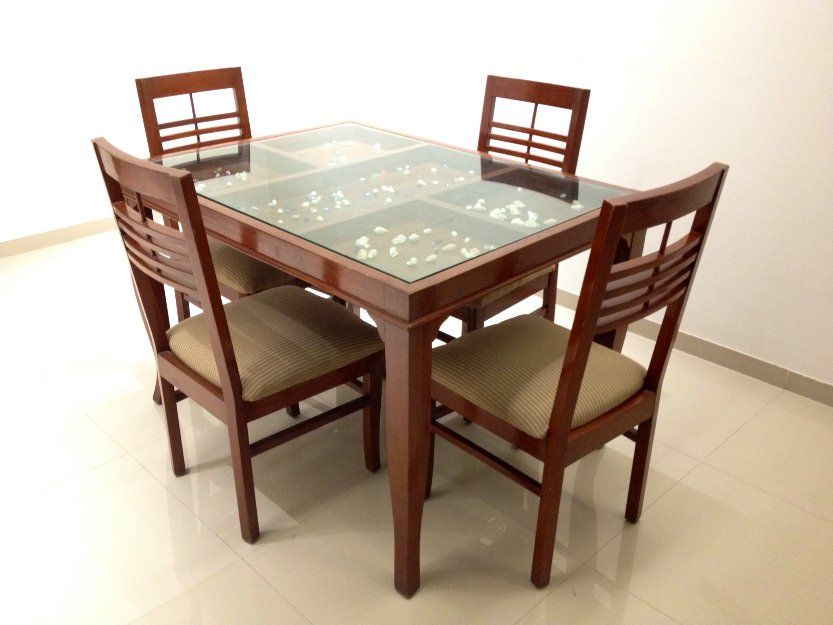 Dining Table Glass Design Wooden Dining Table Designs With Glass