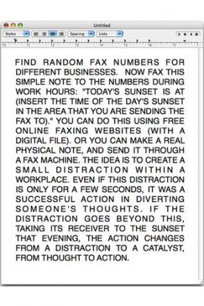random fax number