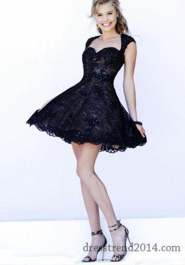 Short Black Nude Lace Prom Dresses Sherri Hill 4331 for Sale | Prom ...
