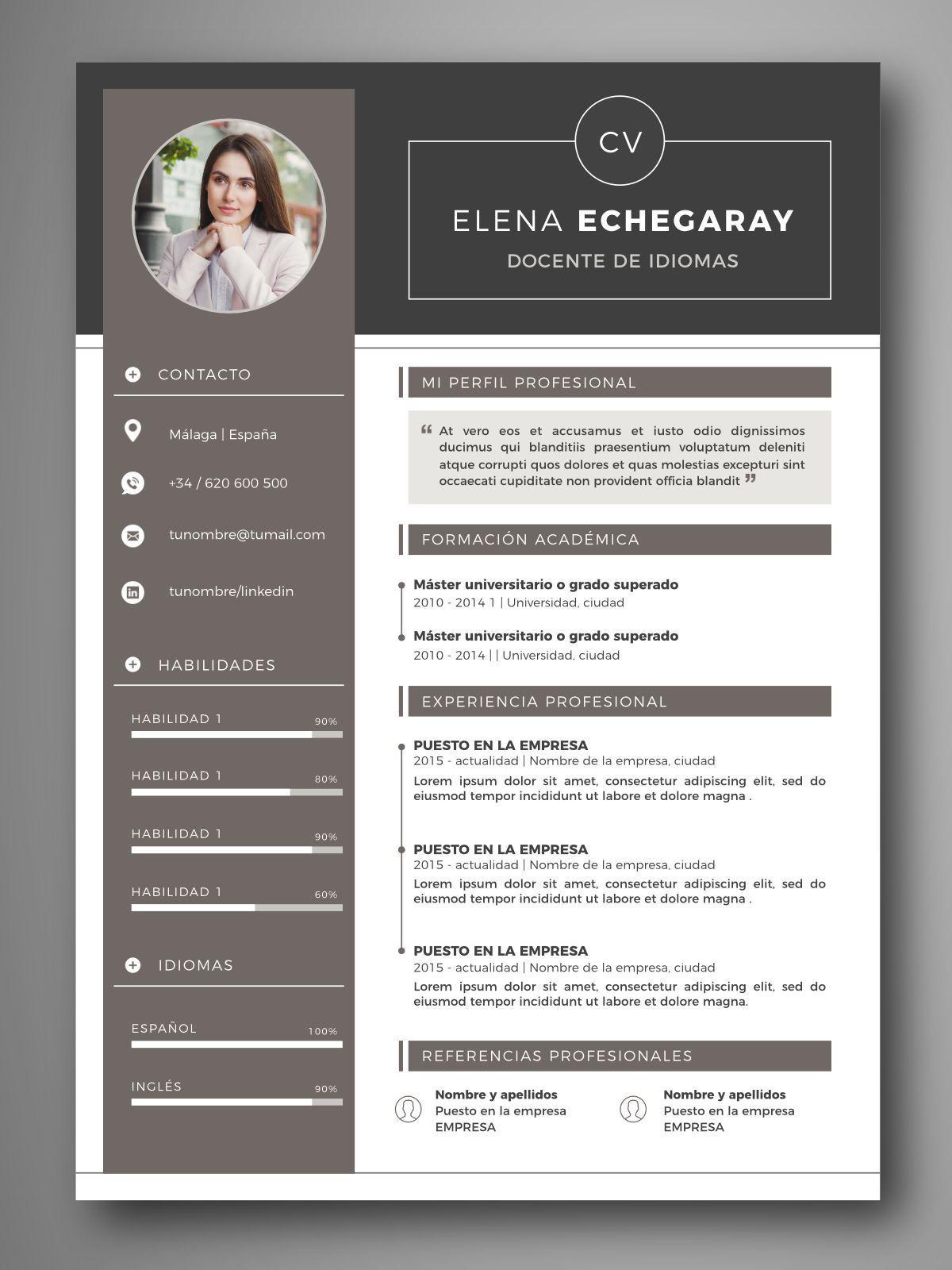 Pin Oleh Hexo Xeny Diy Crafts Home Di Resume Templates 2019 Cv Kreatif Desain Resume Desain Cv