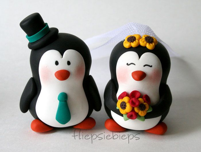 Penguin Wedding Cake Topper by fliepsiebieps.deviantart.com on ...
