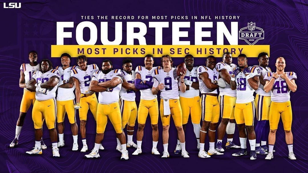 26 4k Likes 282 Comments Lsu Football Lsufootball On Instagram The Best Ever In 2020 Lsu Football Lsu Nfl Draft