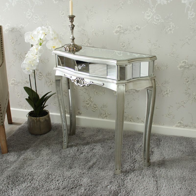 Elegant Small Half Moon Hall Table