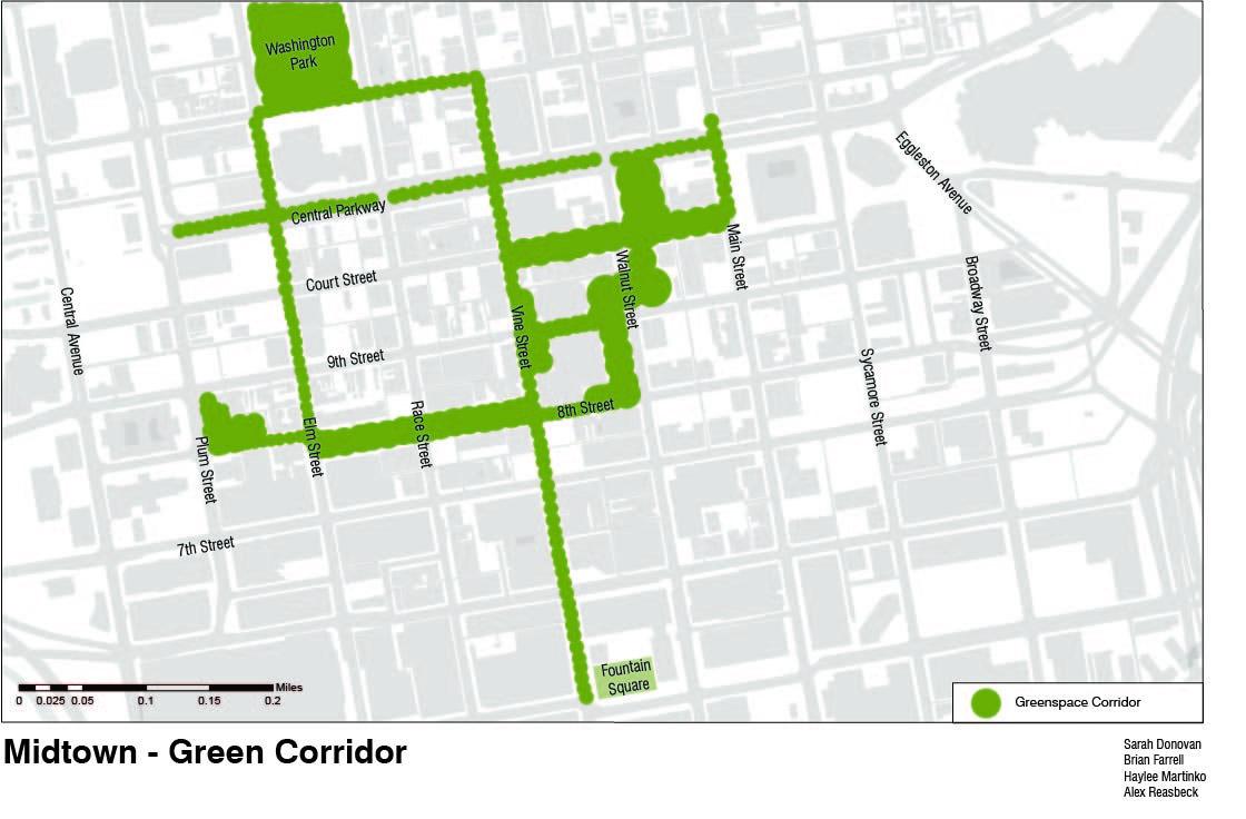 Green Corridor Green Corridor Washington Park Concept Map