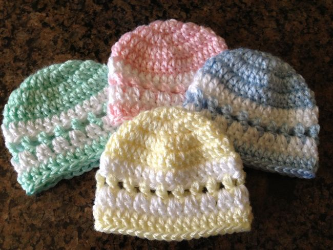 Pattern for preemie hats (good idea for NICU donations) | Premie ...